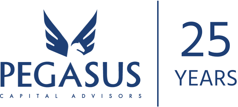 Pegasus 25 year anniversary logo
