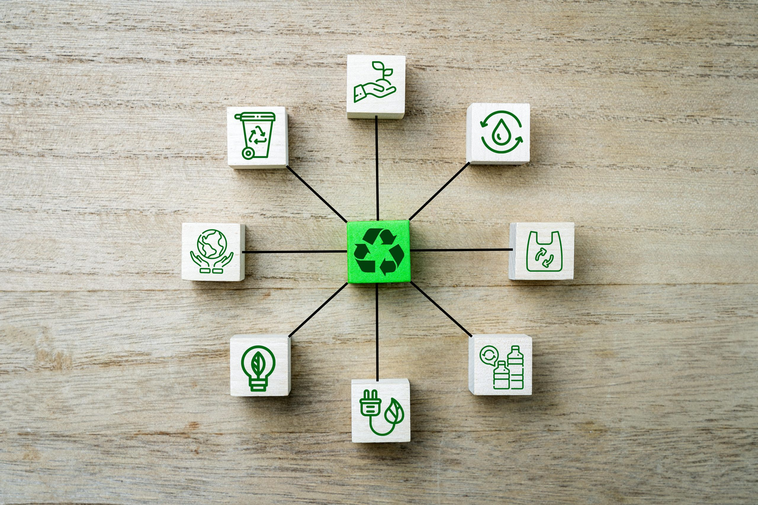 Recyling icons and symbols